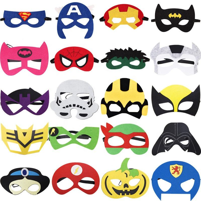 Animal Felt Mask Party Favors felt mask soft felt superhero mask for kids with 24 Different Types