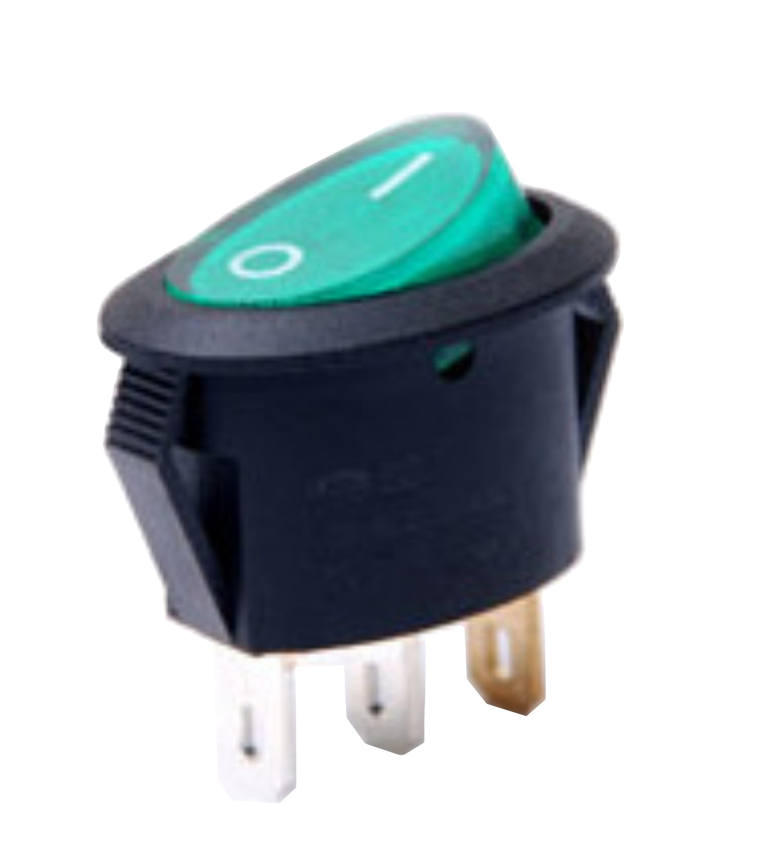 Rocker Switch Round Light Mini 3pins Or Unlight