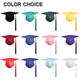 School School Graduation Caps Wholesale High School Shiny Purple Graduation Cap Tassel