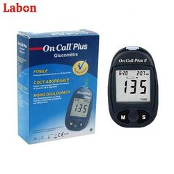 Labon on call plus blood glucose test strip with the blood glucose meter