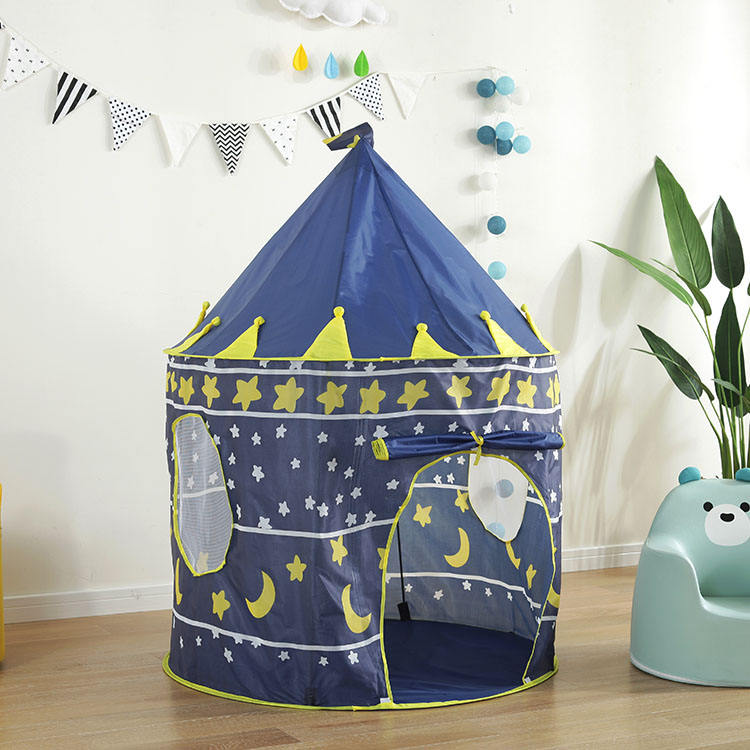 High Quality Polyester Fabric Girls Boys Castle House Teepe Tent Kid Play Tent