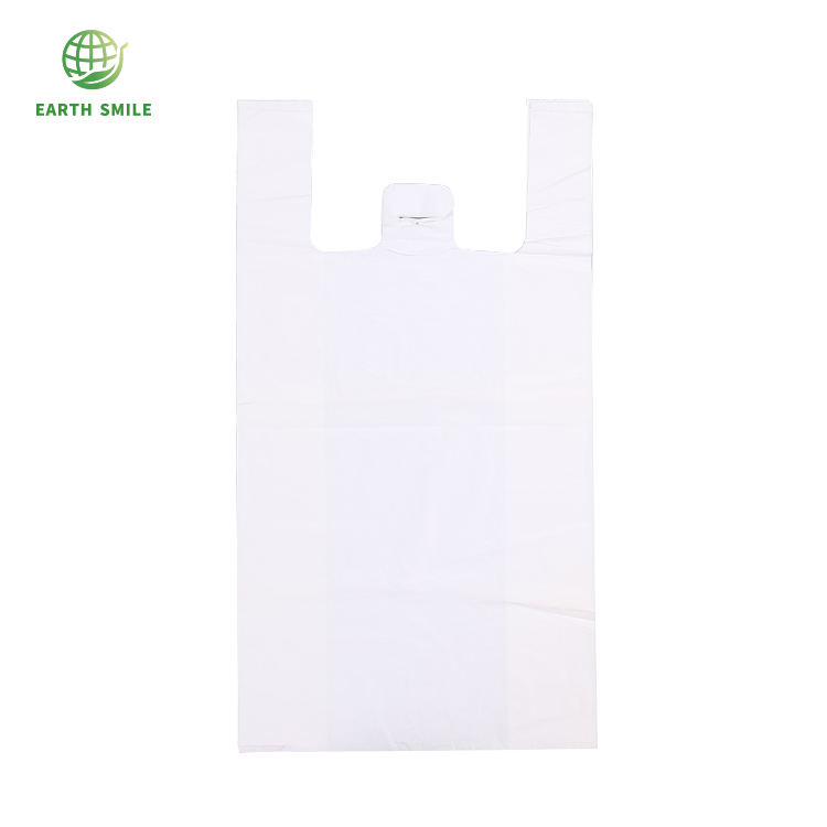 Plastic-free Eco-friendly Biodegradable T-Shirt Bag Shopping Bag For Supermarket Grocery