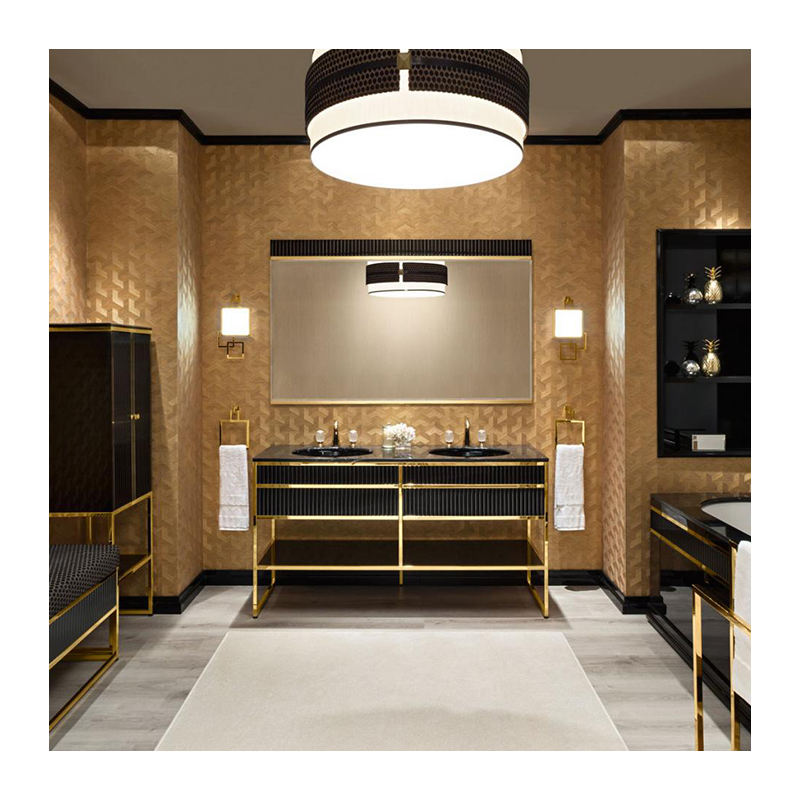 2020 New Design Stainless Steel Bathroom Vanity With Bathroom Mirror And Main Cabinet