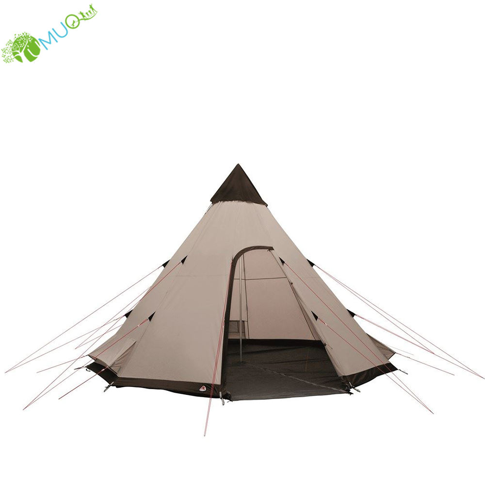 YumuQ Luxury Glamping Waterproof Teepee Tent, 3M x 4.5M Indian Tipi Tent for 8 Person Outdoor Camping, Family and Party Tent
