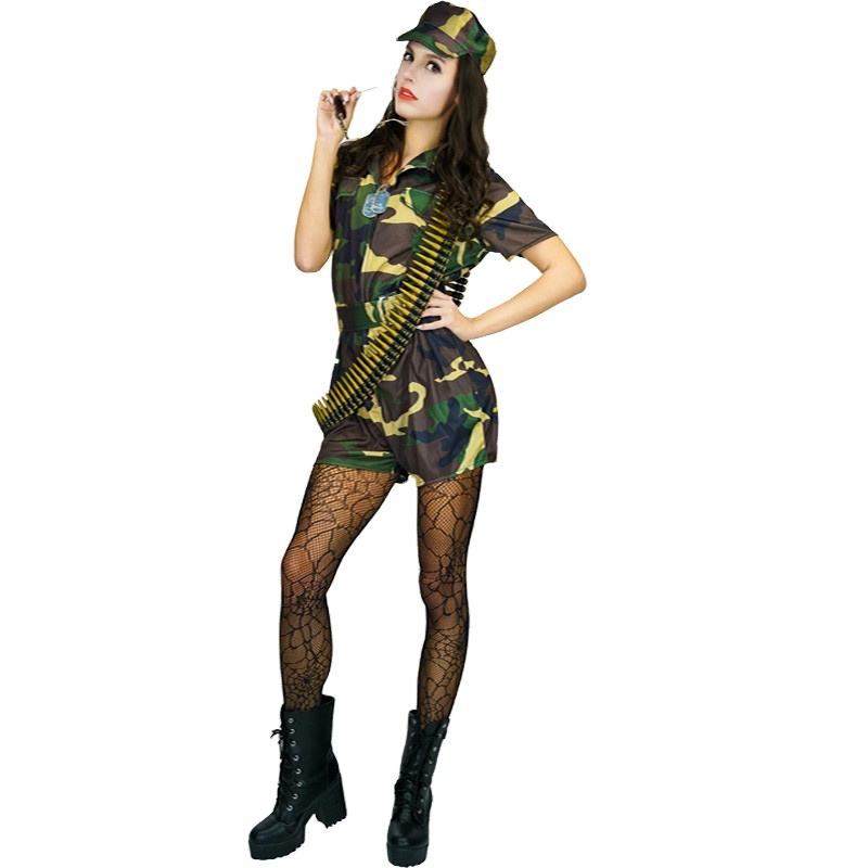 New Wholesale Sexy Ladies Solider Costumes Carnival Cosplay Party Military Uniform For Women