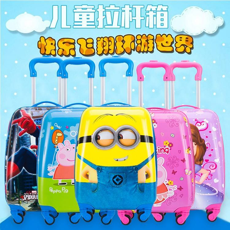 2019 Cute Animal Suitcase Children Rolling Luggage bag Spinner kids travel Bags Cabin Cartoon Scooter Trolley kids luggage