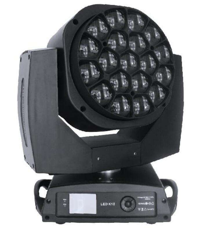 Vangaa 600W 19pcs 15W 4in1 equipment dj DMX Control Beehive LED Moving Head Wash led light