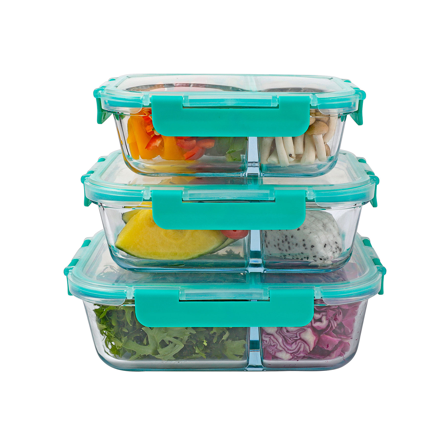 heat-resistant container set glass food storage for wholesales