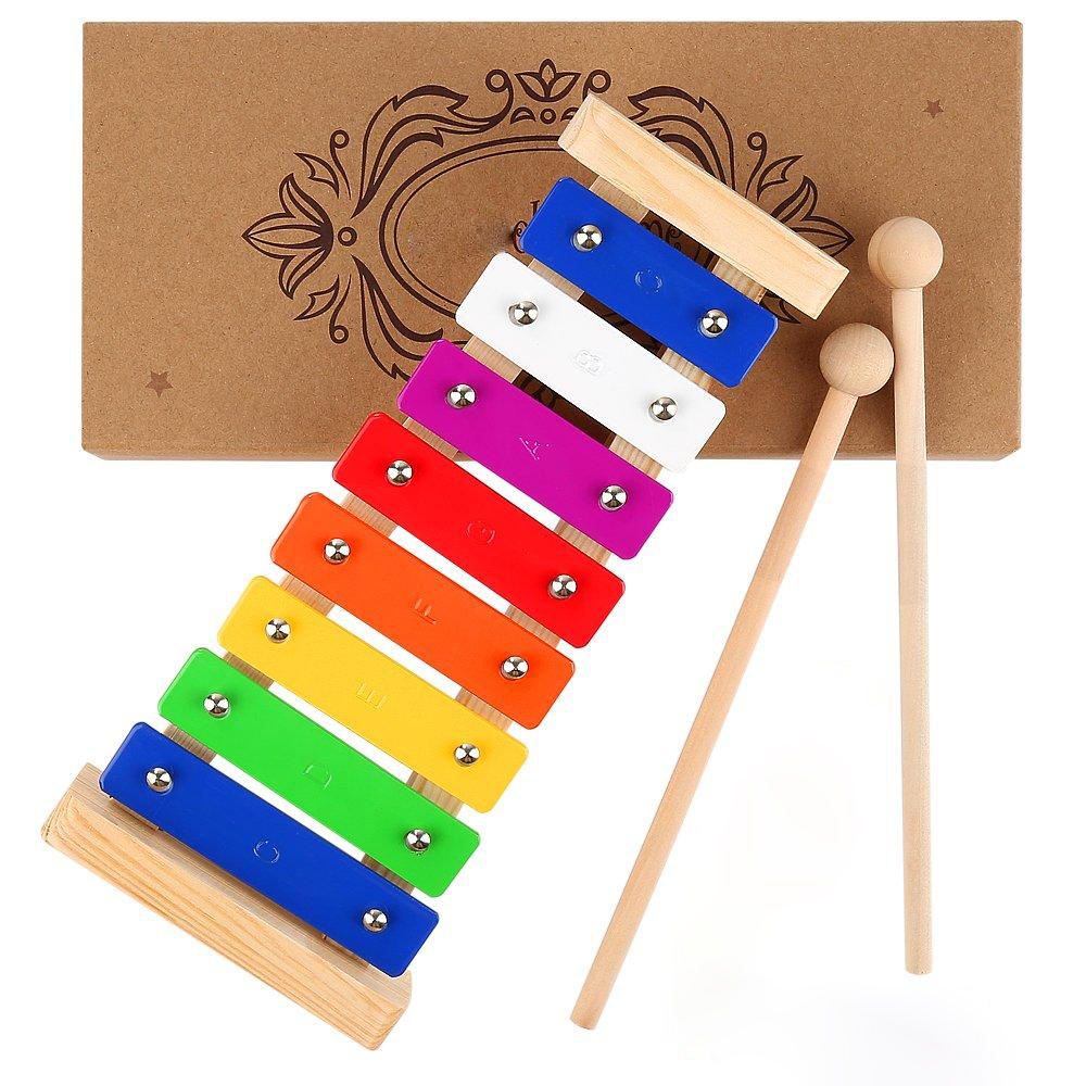 Kids Musical Instruments Xylophone Toddlers Musical Pounding and Hammer Wooden Educational Pound a Ball Toy Gif