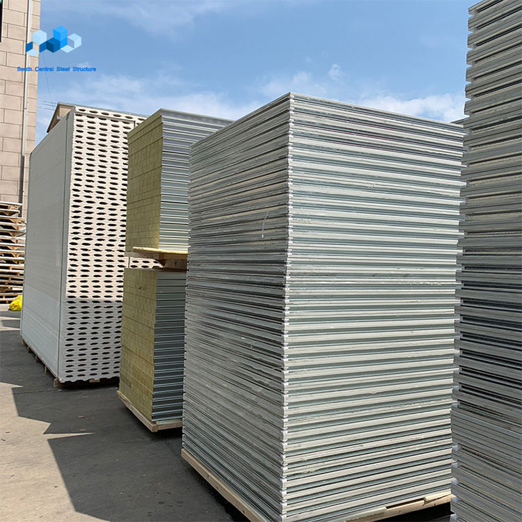 philippines cheap price 50mm 75mm 100mm eps cement calcium silicate board concrete sandwich wall fire rated panels production li