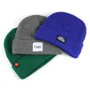 Custom made winter knit hats, private label beanies wholesale