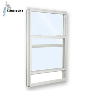 Desain Sederhana Vinyl Fresno Upvc Wedges Double Hung Merek Window