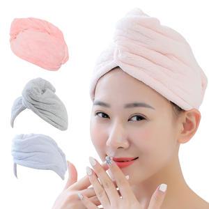 Microfiber Shower Hair Drying Womans Girls Lady's Quick Dry Hair Hat Turban Head Wrap Bathing Towel