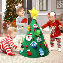 3D DIY children's handmade felt Christmas tree decoration with Hanging Ornaments