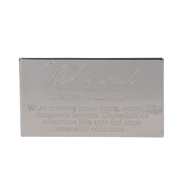 Custom New Product Metal Blank Engraving Plates For Wooden Box