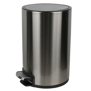 Luxury Stainless Steel Metal Hotel Room Trash can with Pedal Dustbin