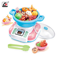Role Playing Game Kids Kitchen Hotpot Toys With Sound and Light