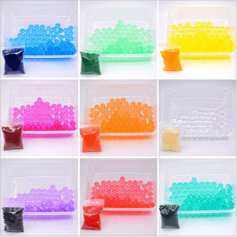 Gel Water Beads Transparent Jelly Pearls Crystal Water Gel Bead Rainbow