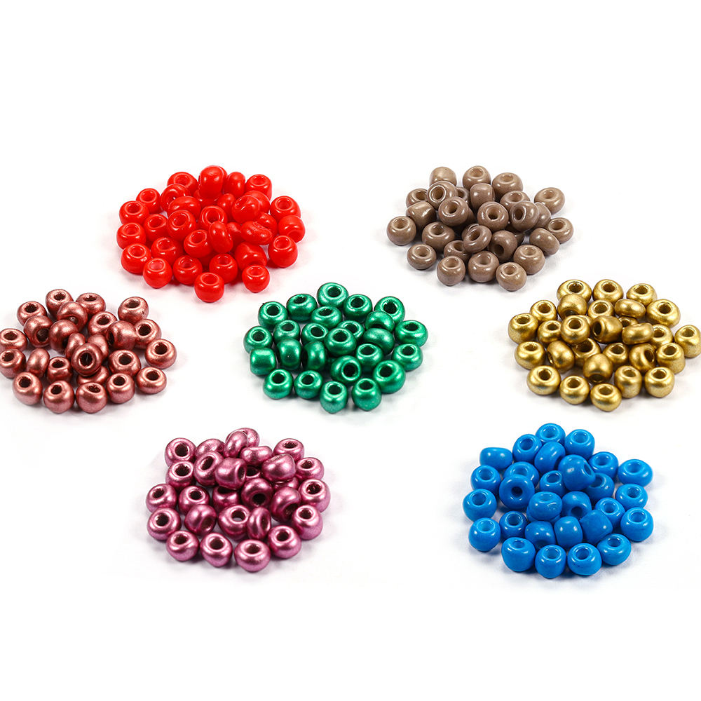 300-600pcs/lot Czech Beads Glass Spacer Beads Candy Color For DIY Bracelet Jewelry Making Accessories,