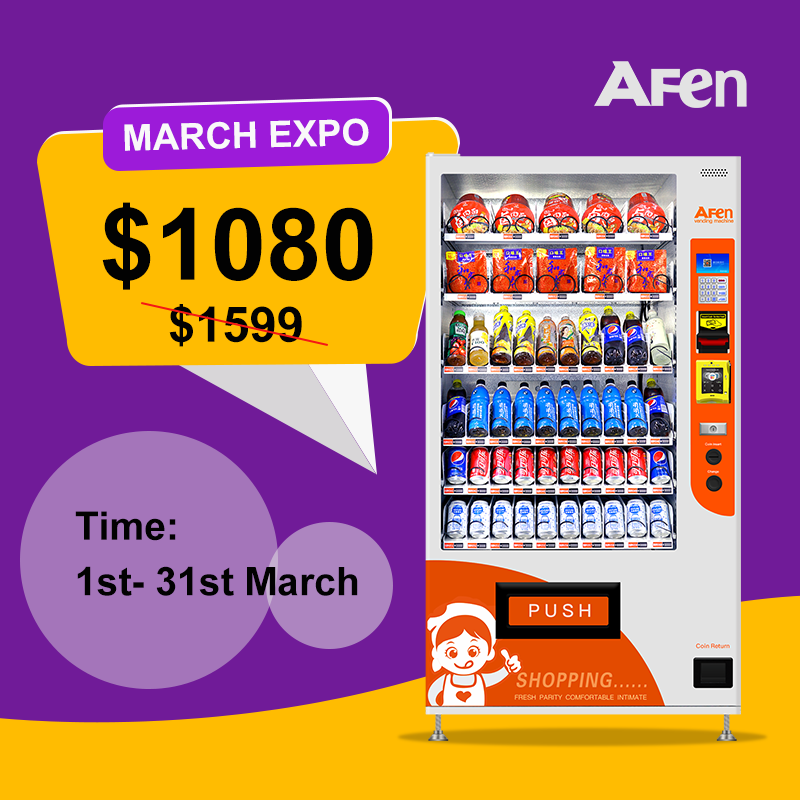 AFEN Self Service Automatic Food Drink Snack Vending Machine Price