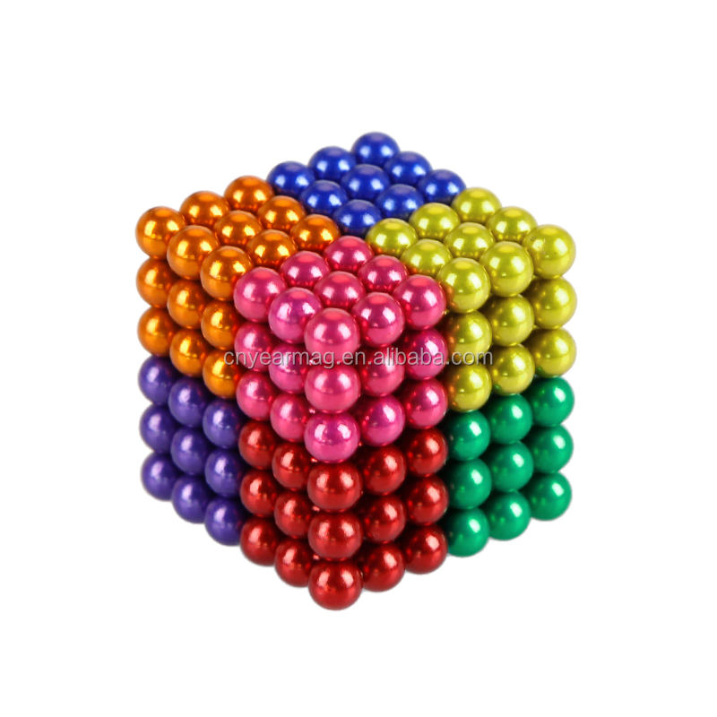 Amazon Fast Selling Rainbow Multicolor Magic Magnet Puzzle Neocube 216 Neodymium Magnetic Sphere Balls