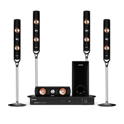 5.1CH Home Theater Sound System Tower Speaker with Bluetooth/FM/CD/VCD/AUX/USB/Mic