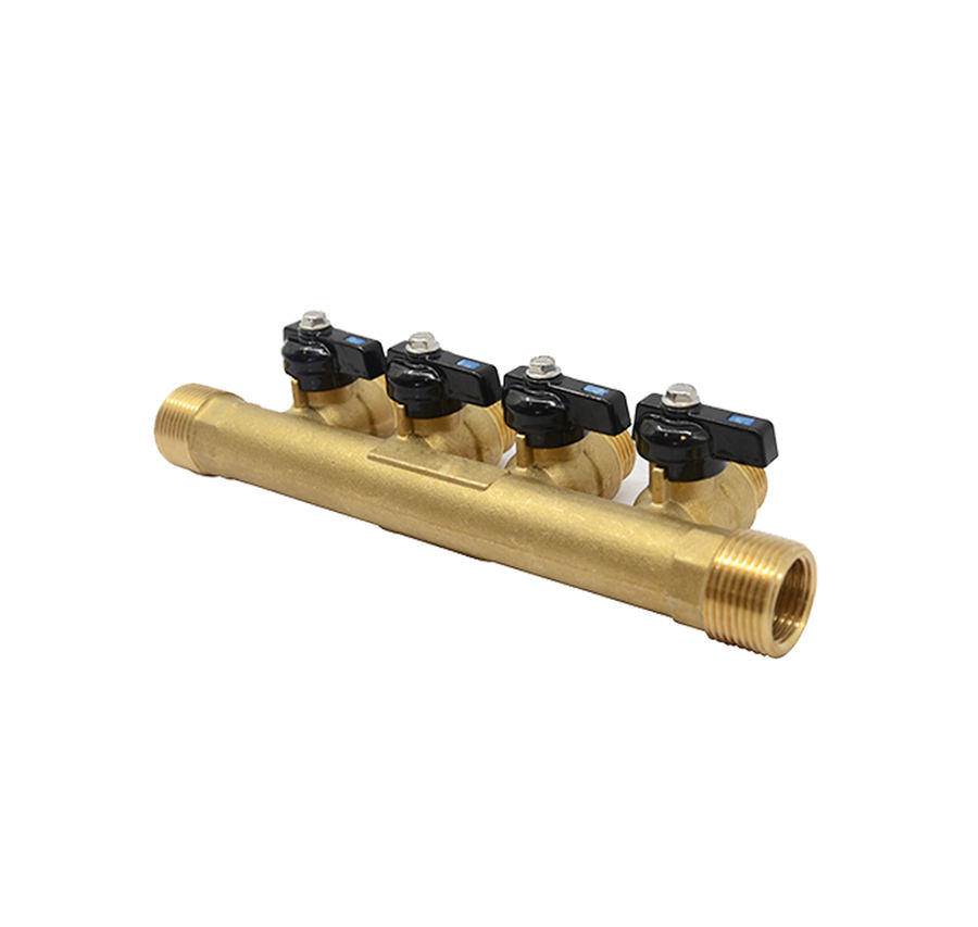 Ball Valves And Outlets Brass Air Headers Gas Distribution Manifolds