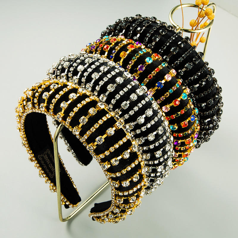 New hair bands exquisite fashion hair accessories luxury diamonds high quality ladies headbands factory wholesale