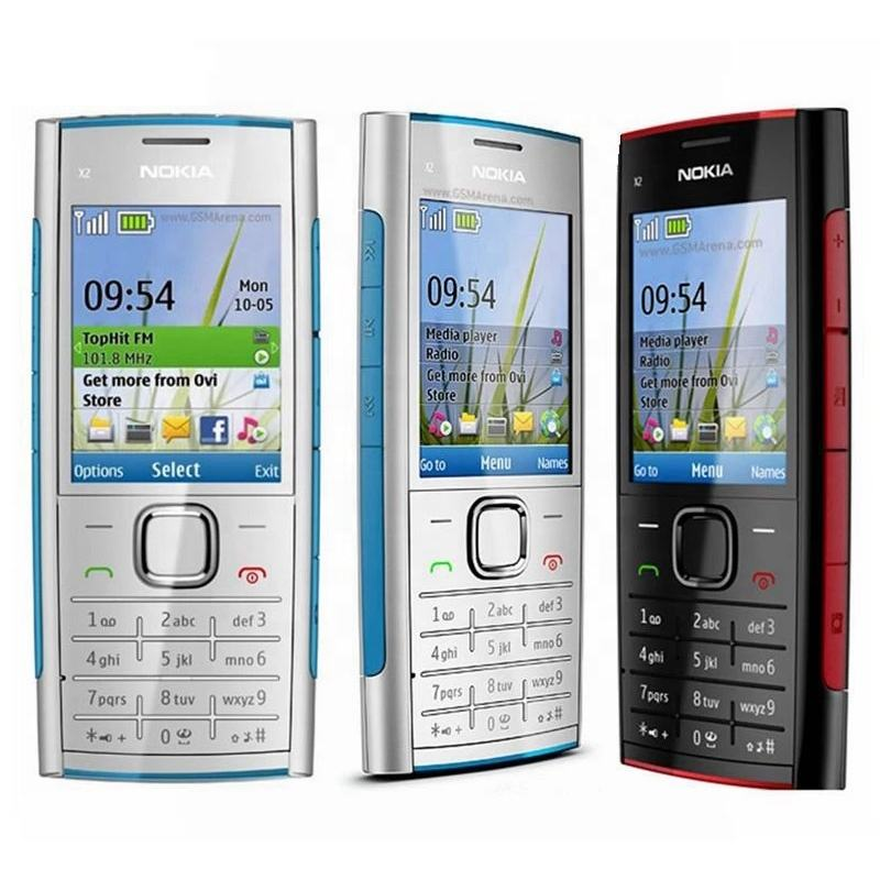 For Nokia X2-00 GSM Cell Phone FM JAVA 5MP Camera X2 Unlocked Mobile Phone