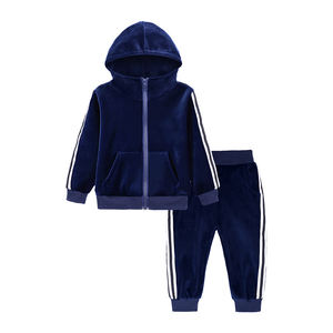 Custom spring fall boys jogging set tracksuits kids sport wear velvet kids track suit