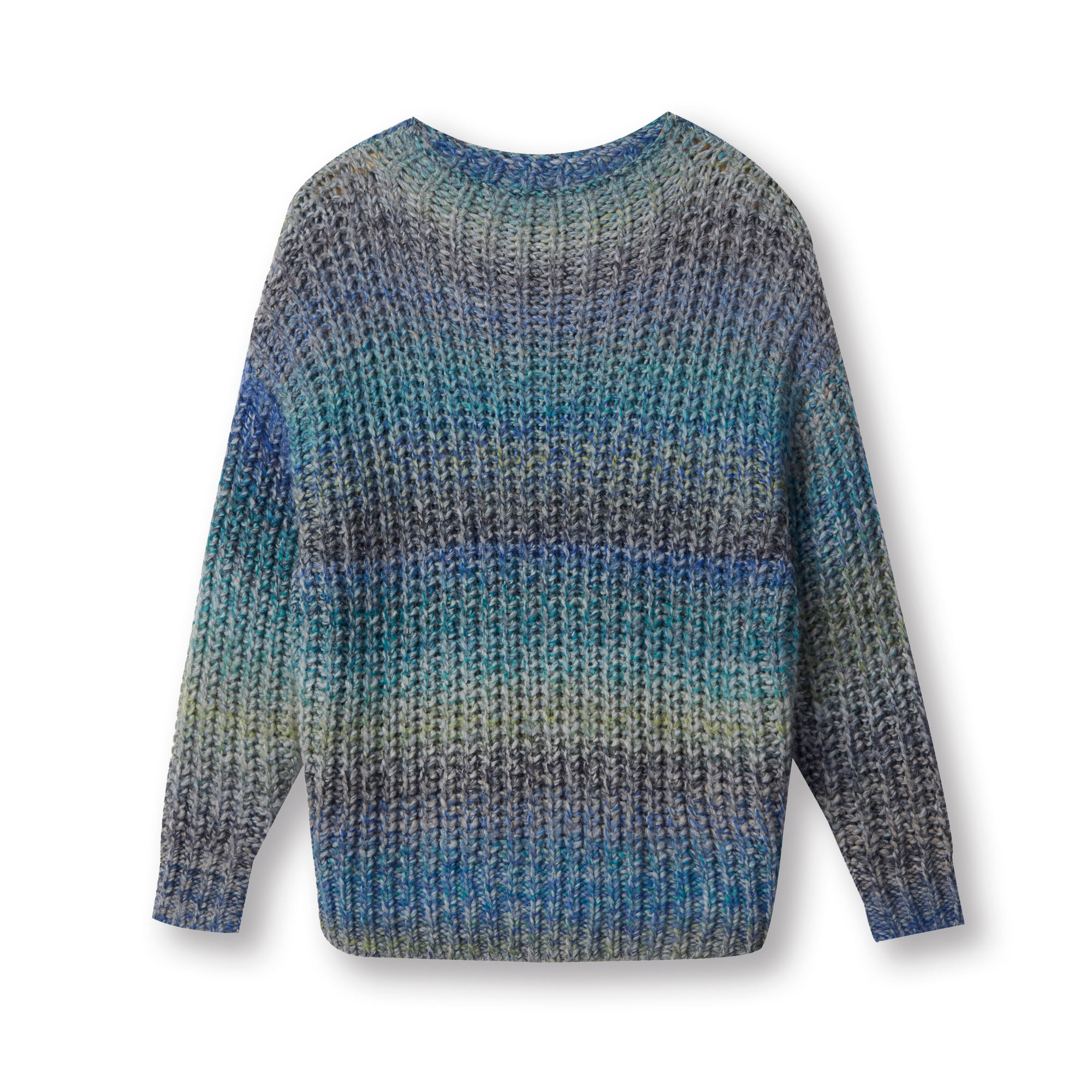 Custom knit sweater Italian space dye yarn women pullover sweater