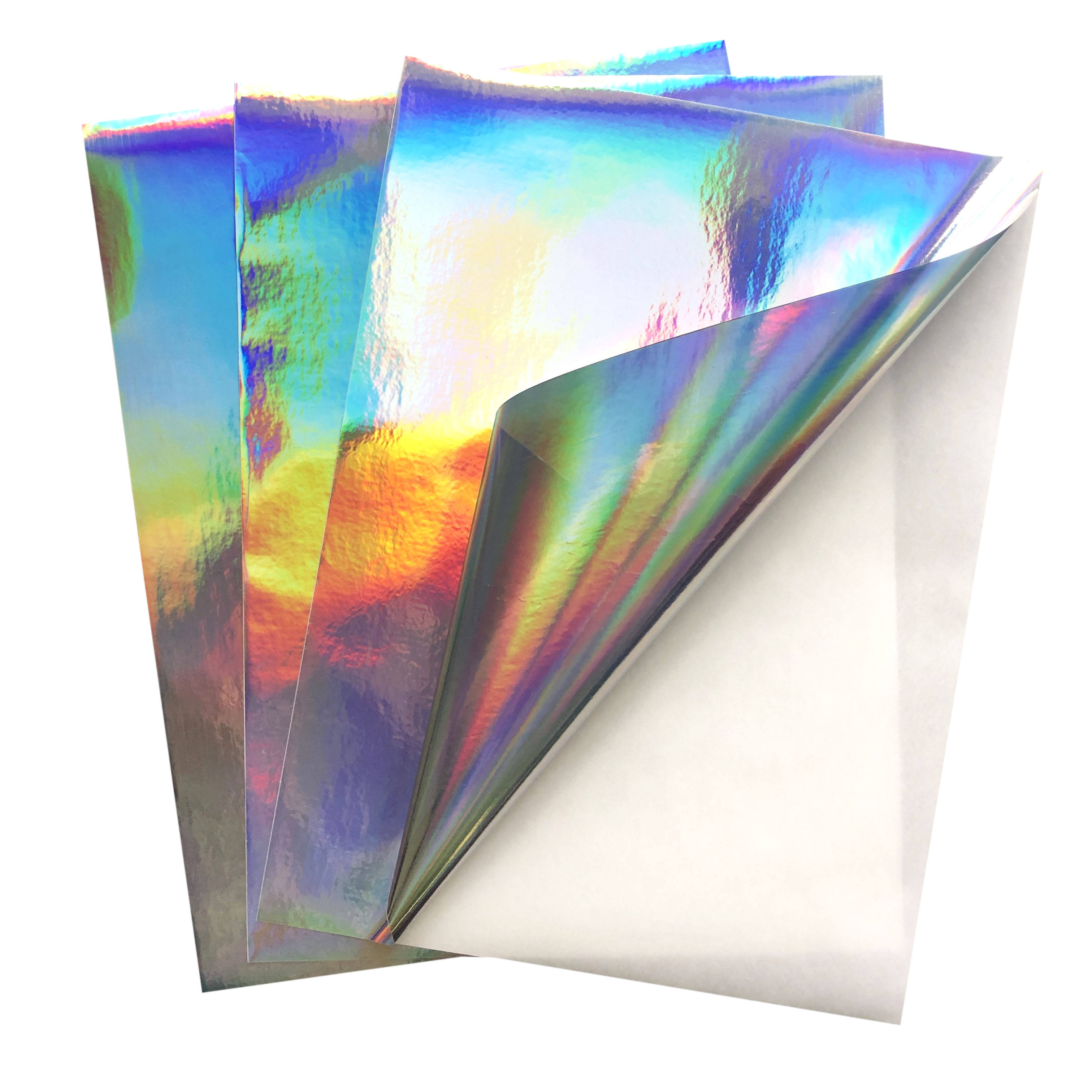 Free Sample Security Holographic PET Film Sticker Paper A4 Vinyl Paper For Printing