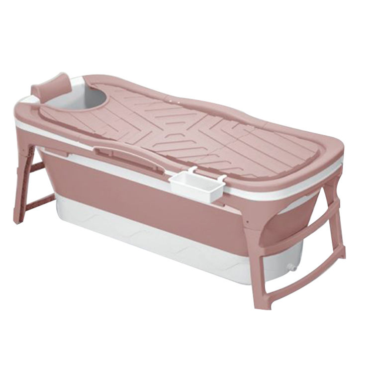 Customized color 1280MM safe and firm independent portable adult folding plastic bathtub
