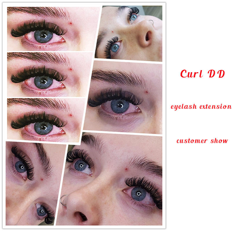 Wholesale Private Label C CC D DD L LC LD M O Curl Matte Black Classic Silk Eyelashes Individual Volume eyelash extension