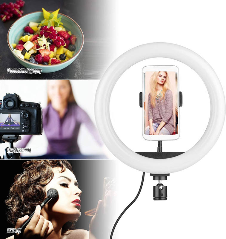 Tripod Ring Led Light Professional Video Flexible Dimmable Fill Light Mini Phone Holder Tripod Stand Led Selfie Ring Light