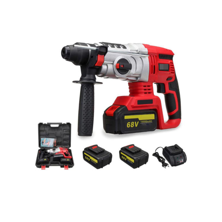 Multi Functional Lithium Power Drills 68v Cordless Brush Electric Hammer