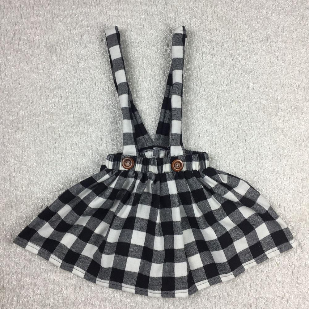 New Arrival Baby Girls Suspender Skirt Wholesale Fall Kids Plaid Skirt For Children