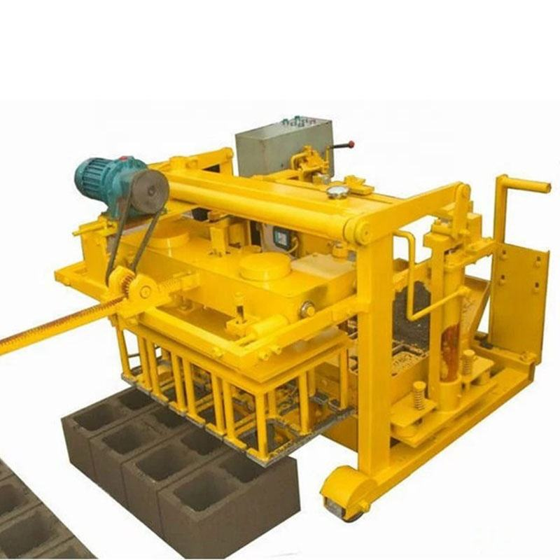 Small hydraulic vibration movable mobile egg laying layer cement concrete fly ash brick block making machine without pallet