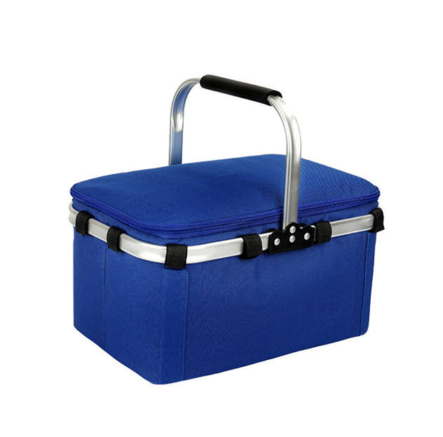 Large Size Insulated Cooler Bag Collapsible Picnic Basket Cooler with Sewn in Frame Collapsible Folding Cooler Picnic Bag