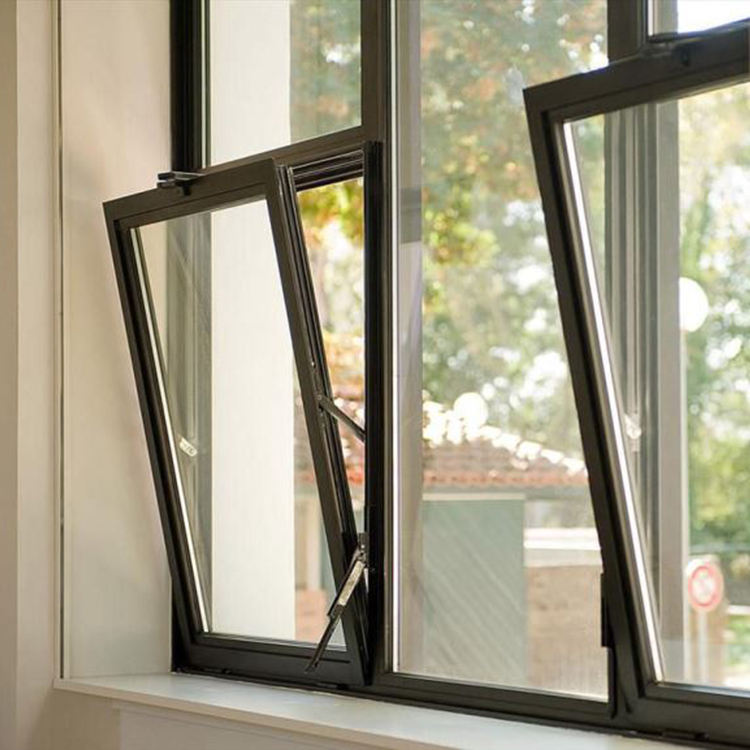 aluminium door and window tilt and turn double glazed window with heat-insulation