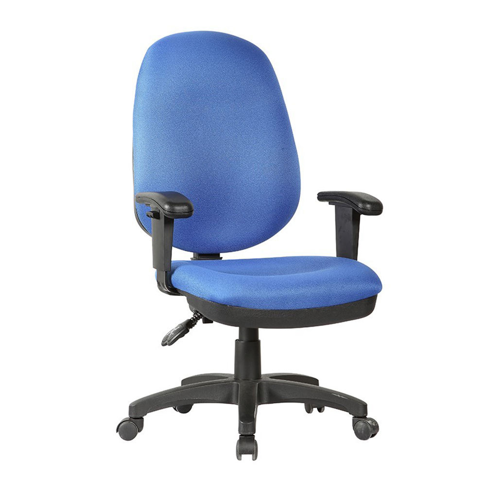 Classic design ergonomic fabric task office chair with adjustable arms