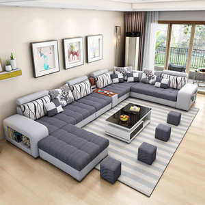 Modern Design Stain Resistant Fabric Latest Living Room Sofa
