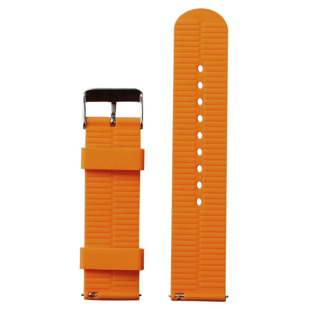 Manufacturers Wholesale Order 20mm 22mm 2 Pieces Sport Soft Silicone Watch band From Factory