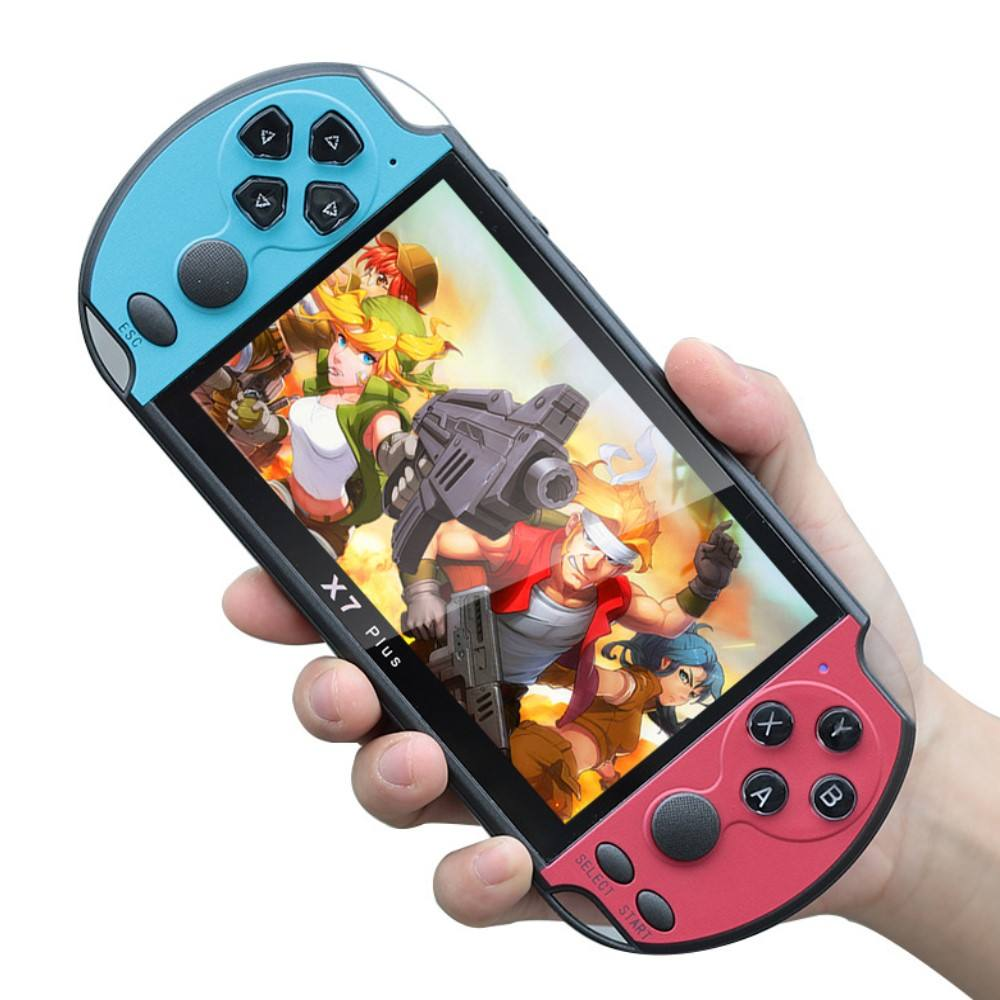 5.1 inch screen X7 plus handheld game console video support AV output 10000 games game console