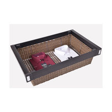 Wholesale aluminum cane rattan wicker storage clothes basket pants trouser hanger rack for wardrobe fittings
