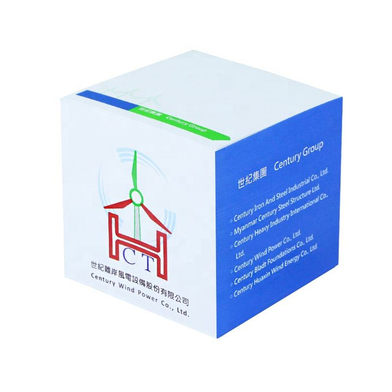Promotional Gifts mini square white cube sticky memo pad custom logo printing for office stationery