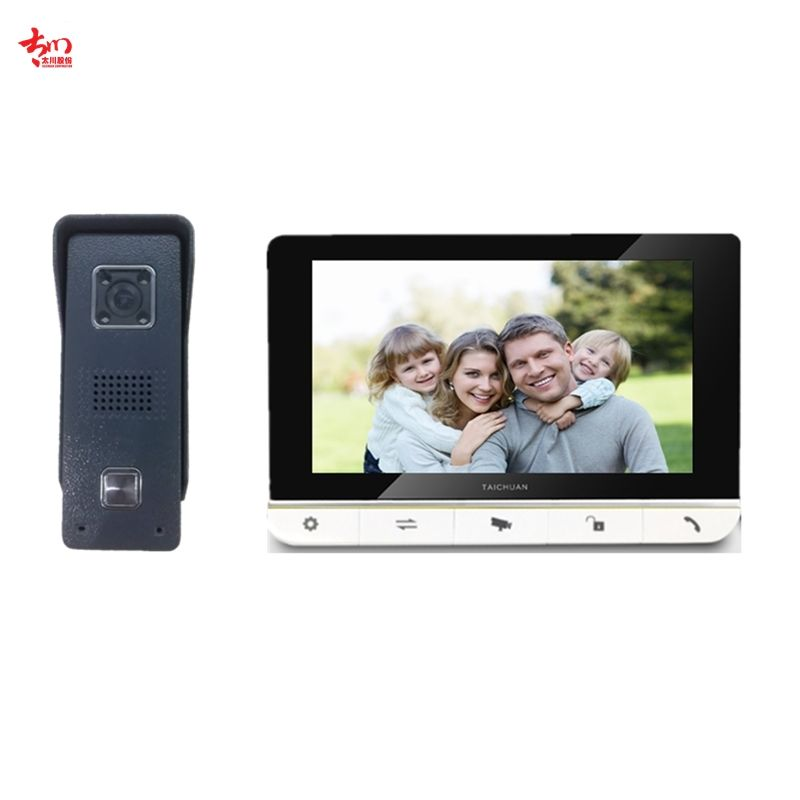 "2020 new Wired Door Phone Door Phone Intercom 7"" Color Display Wired Video Intercom with night vision and video record"