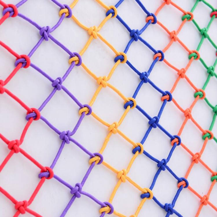 Color nylon net kindergarten children balcony stair protection net climbing protection against falling decorative rope