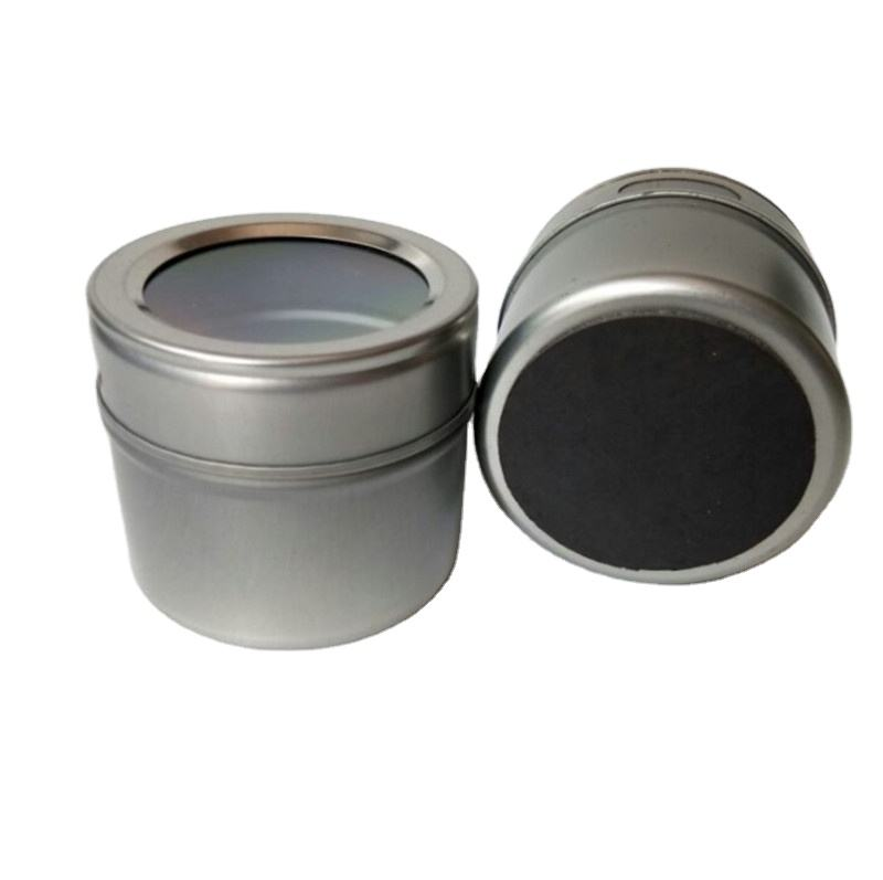 Factory price salt pepper garlic curry ginger 100ml spice tin 12pcs magnetic spice tins