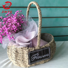 Willow Flower Basket Bamboo Small Cheap Gift Arranging Wicker Basket For Flower Flat Custom Size Hampers Rattan Oval Wicker